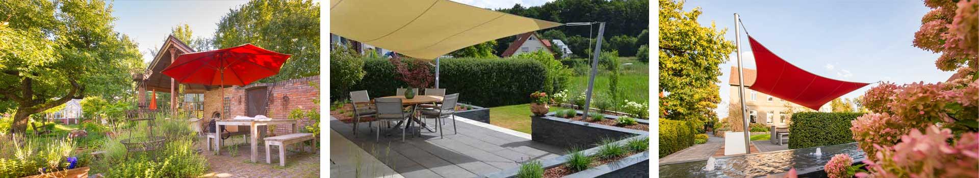 Sonnenschutz abgestimmt auf jeden Garten