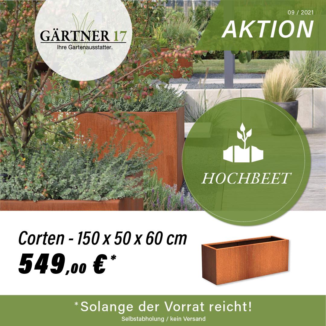 Rabatt-Aktion Wasserbrunnen eckig aus Cortenstahl